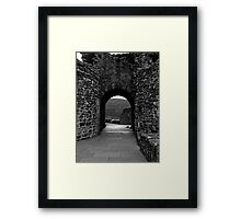 Through the Arch.Urquhart Castle Framed Print