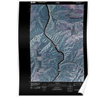 USGS Topo Map Indiana ID Captain John Rapids 20110429 TM Inverted Poster