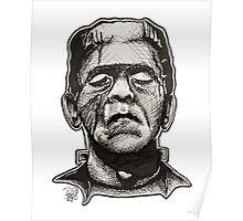 Frankenstein pen drawing! Poster