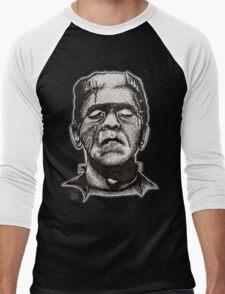 Frankenstein pen drawing! Men's Baseball ¾ T-Shirt
