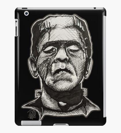 Frankenstein pen drawing! iPad Case/Skin