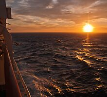 Sunset on starboard by David Hall