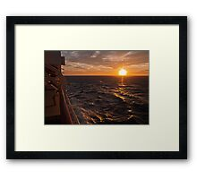 Sunset on starboard Framed Print