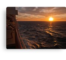 Sunset on starboard Canvas Print