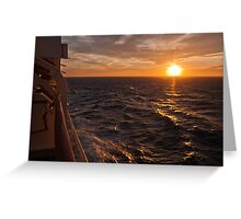 Sunset on starboard Greeting Card