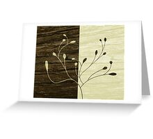 Foliage textured Greeting Card