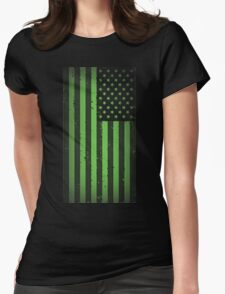 American idiot flag- Green Day Womens Fitted T-Shirt