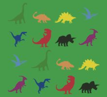 Fun Dinosaur Pattern Kids Tee