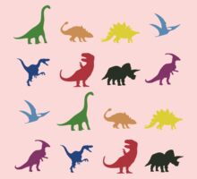 Fun Dinosaur Pattern One Piece - Short Sleeve
