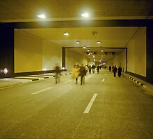 "Walking through ""Rheinufer"" tunnel, Düsseldorf, NRW, Germany. by David A. L. Davies"
