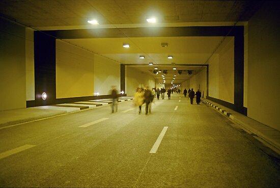 """Walking through """"Rheinufer"""" tunnel, Düsseldorf, NRW, Germany. by David A. L. Davies"""
