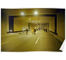 "Walking through ""Rheinufer"" tunnel, Düsseldorf, NRW, Germany. Poster"