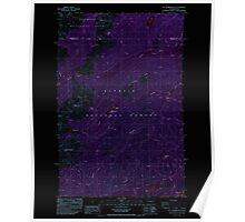USGS Topo Map Washington State WA Mt Washington 242726 1985 24000 Inverted Poster