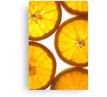 Fresh Juicy Oranges Canvas Print