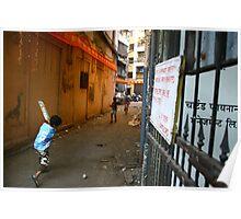 street cricket in mumbai Poster