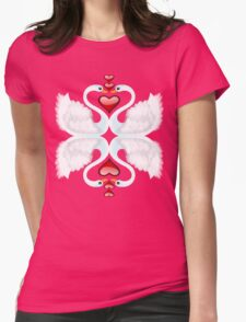 LOVE ON A POND Womens Fitted T-Shirt