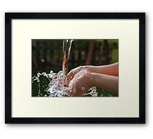 Splash of Life Framed Print