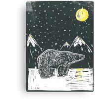 White bear, brown bear Canvas Print