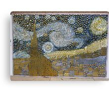 Van Gogh's 'Starry Night' expressed in hardware Canvas Print