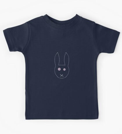 Handstitched pinkeyed bunny  Kids Tee