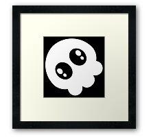 Chibi Skull - Black Framed Print