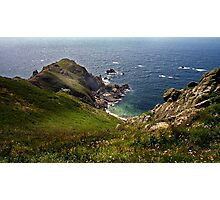 The rugged coastline of the Cotentin: The point of Jobourg Photographic Print