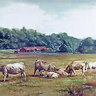 Cattle grazing by Joyce Grubb