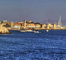 Leaving Rhodes Harbour by Tom Gomez