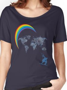 kitesurfen, rainbow Women's Relaxed Fit T-Shirt