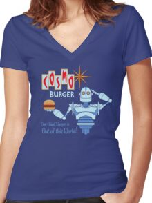 COSMO BURGER! Women's Fitted V-Neck T-Shirt