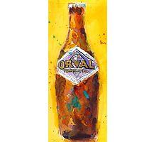Orval Trappist Ale Beer Watercolor - Belgium Beer Art Print  Photographic Print