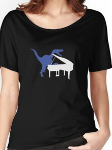 Velociraptor Playing Piano Women's Relaxed Fit T-Shirt