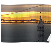 Ferry Building Clock Tower Poster