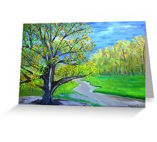 Road by the big old tree Greeting Card