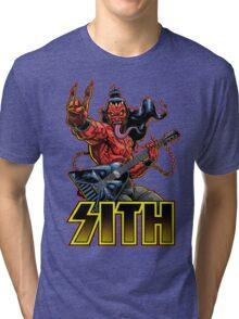 SATAN IN THE HOUSE! Tri-blend T-Shirt