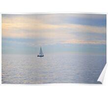Peaceful Sailing Poster