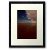Serene Moon Lit Shore Framed Print