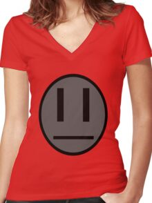 Invader Zim Dib emoticon shirt Women's Fitted V-Neck T-Shirt