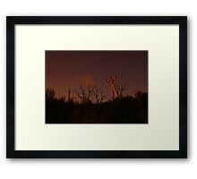 Communication moody Framed Print