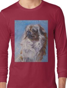 Tibetan Spaniel Fine Art Painting Long Sleeve T-Shirt