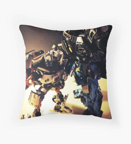 Ironhide and Jazz Throw Pillow