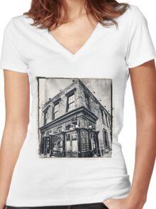 NYC Landmarks Women's Fitted V-Neck T-Shirt