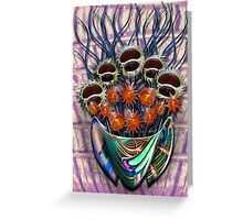 Reflector Flowers in the Wall Vase Greeting Card