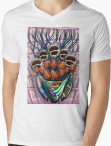 Reflector Flowers in the Wall Vase Mens V-Neck T-Shirt