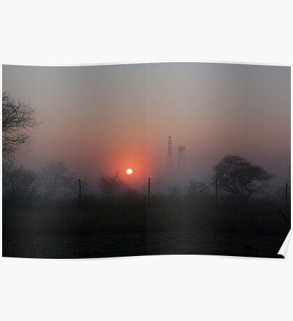 African Bushveld Sunrise Poster
