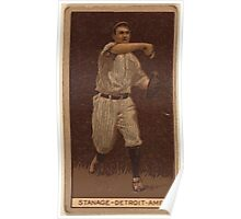 Benjamin K Edwards Collection Oscar Stanage Detroit Tigers baseball card portrait 002 Poster