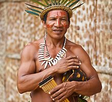 Amazon Indigenous Musician by Reuben Reynoso