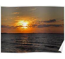 Lake Erie Sundown Poster