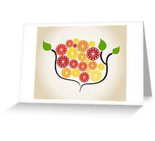 Branch an orange Greeting Card