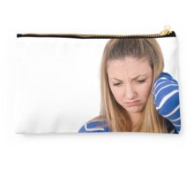 emotional Young teen girl  Studio Pouch